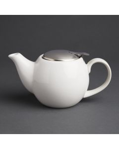 This is an image of a Olympia Cafe Teapot White - 510ml 18oz (Box 1)