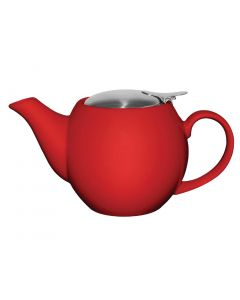 This is an image of a Olympia Cafe Teapot Red - 510ml 18oz (Box 1)