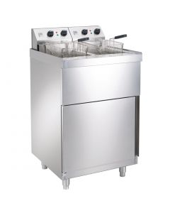 This is an image of a Parry Double Pedestal Fryer 2 x 9Ltr 2 x 6kW (Direct)
