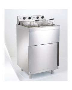 This is an image of a Parry Double Pedestal Fryer 2 x 9Ltr 2 x 9kW (Direct)