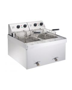 This is an image of a Parry Table Top Fryer Double 2 x 9Ltr 2 x 9kW (Direct)