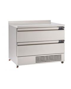This is an image of a Foster FlexDrawer 2 Drawer Counter FridgeFreezer with Upstand FFC6-2