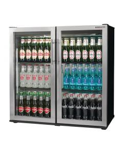 This is an image of a Autonumis Popular Double Hinged Door 3Ft Back Bar Cooler StSt Door A215180