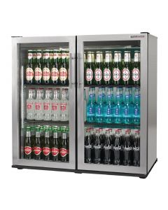 This is an image of a Autonumis Popular Double Hinged Door 3Ft Back Bar Cooler StSt A215182
