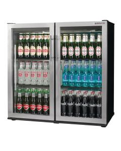 This is an image of a Autonumis Popular Double Hinged Door Maxi Back Bar Cooler StSt Door A21090