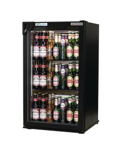 This is an image of a Autonumis EcoChill 1 Door Back Bar Cooler Black A209186
