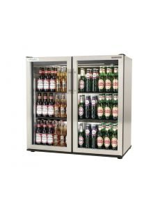 This is an image of a Autonumis EcoChill Double Hinged Door 3Ft Back Bar Cooler StSt A215203