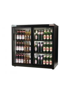This is an image of a Autonumis EcoChill Double Sliding Door Maxi Back Bar Cooler Black A210101