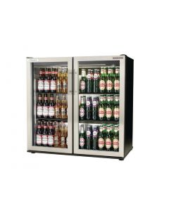This is an image of a Autonumis EcoChill Double Hinged Door Maxi Back Bar Cooler StSt Door A21098