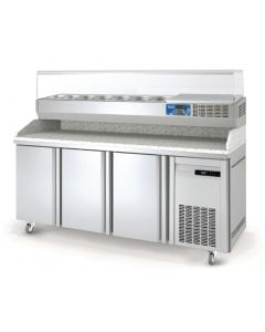 This is an image of a Lec 3 Door Pizza Counter PC3DR