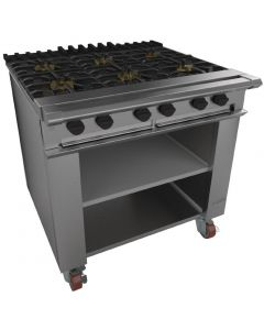 This is an image of a Falcon Chieftain 6 Burner Boiling Table on Castors LPG G1060X