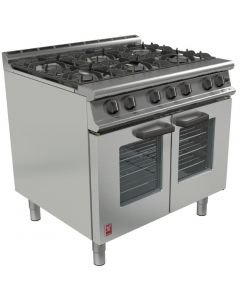 This is an image of a Falcon Dominator Plus Six Burner Oven Range Fan Assisted Natural Gas G3106