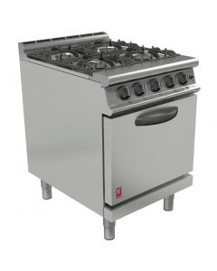 This is an image of a Falcon Dominator Plus 4 Burner Oven Range with Drop Down Door Natural Gas G3161D