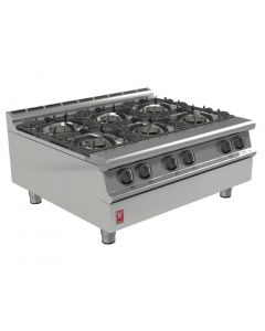 This is an image of a Falcon Dominator Plus Six Burner Boiling Top LPG G3121