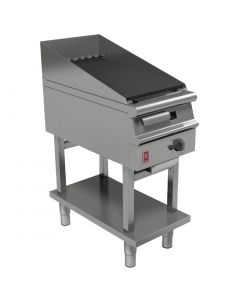 This is an image of a Falcon Dominator Plus 400mm Wide Chargrill on Fixed Stand LPG (Direct)