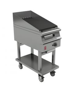 This is an image of a Falcon Dominator Plus 400mm Wide Chargrill on Mobile Stand NAT (Direct)