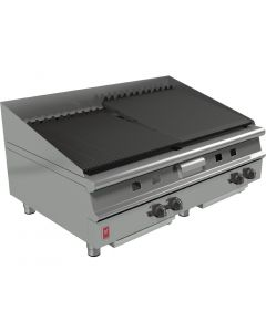This is an image of a Falcon Dominator Plus 1200mm Wide Chargrill NAT (Direct)