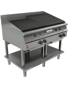 This is an image of a Falcon Dominator Plus 1200mm Wide Chargrill on Fixed Stand NAT (Direct)