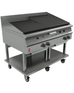 This is an image of a Falcon Dominator Plus Chargrill On Mobile Stand Natural Gas G31225