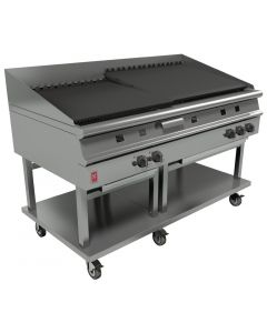This is an image of a Falcon Dominator Plus 1500mm Wide Chargrill on Mobile Stand LPG (Direct)