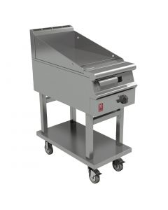 This is an image of a Falcon Dominator Plus 400mm Wide Smooth Griddle on Mobile Stand NAT (Direct)
