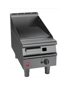 This is an image of a Falcon Dominator Plus 400mm Wide Ribbed Griddle LPG (Direct)