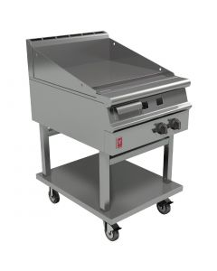 This is an image of a Falcon Dominator Plus 600mm Wide Smooth Griddle on Mobile Stand NAT (Direct)