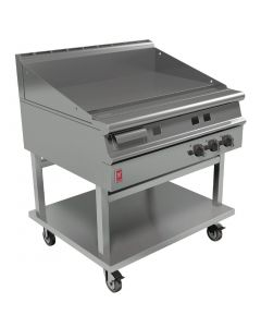 This is an image of a Falcon Dominator Plus 900mm Wide Smooth Griddle on Mobile Stand LPG (Direct)