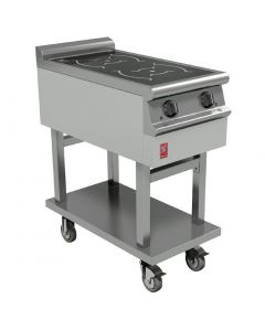 This is an image of a Falcon Dominator Plus Induction Boiling Table (Castors) 2 x 5kW (Direct)