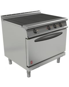 This is an image of a Falcon Dominator Plus 3 Hotplate Electric Oven Range with Drop Down Door(Direct)