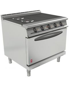 This is an image of a Falcon Dominator Plus 4 Hotplate Electric Oven Range with Drop Down Door(Direct)