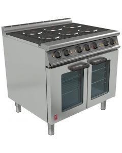 This is an image of a Falcon Dominator Plus 6 Hotplate Elec Oven Range with Fan-Assisted Oven (Direct)