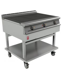 This is an image of a Falcon Dominator Plus 3 Hotplate Electric Boiling Table (Castors) (Direct)