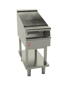 This is an image of a Falcon Dominator Plus 400mm Wide Smooth Electric Griddle on Fixed Stand (Direct)