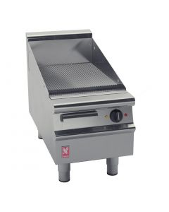 This is an image of a Falcon Dominator Plus 400mm Wide Ribbed Electric Griddle (Direct)