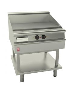This is an image of a Falcon Dominator Plus 800mm Wide Smooth Griddle on Fixed Stand E3481