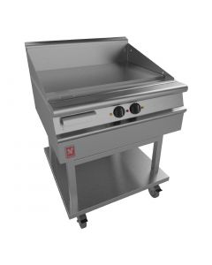This is an image of a Dominator Plus 800mm Wide Smooth Griddle on Mobile Stand E3481