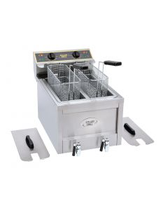 This is an image of a Roller Grill Double Tank Countertop Fryer RFE8D
