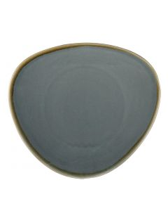 "This is an image of a Olympia Kiln Ocean Tri Plate - 280mm 11"" (Box 4)"