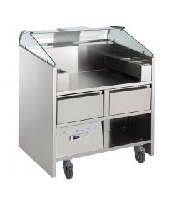 This is an image of a Electrolux 2 Point Mobile Cooking Unit with Refrigerated Drawers NERLP2G(Direct)