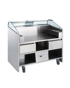 This is an image of a Electrolux 3 Point Mobile Cooking Unit with Refrigerated Drawers NERLP3G(Direct)