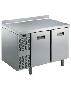 This is an image of a Electrolux Benefit Line Refrigeration Counter 2 Door 265Ltr StSt with Upstand RCSN2M2U