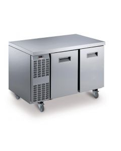 This is an image of a Electrolux Benefit Line Freezer Counter 2 Door 265Ltr StSt Castors RCSF2M2UK