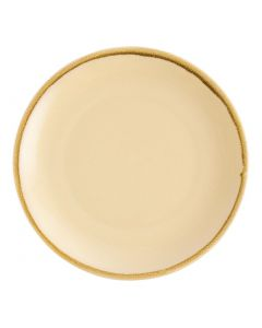 "This is an image of a Olympia Kiln Sandstone Round Coupe Plate - 280mm 11"" (Box 4)"