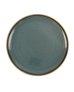 "This is an image of a Olympia Kiln Ocean Round Coupe Plate - 280mm 11"" (Box 4)"