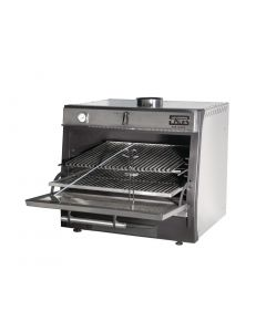 This is an image of a Pira 90 LUX Charcoal Oven Stainless Steel