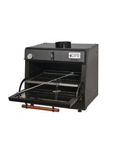 This is an image of a Pira 70 LUX Charcoal Oven Black