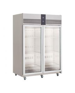This is an image of a Foster EcoPro G2 2 Glass Door 1350Ltr Cabinet Fridge EP1440G 10213