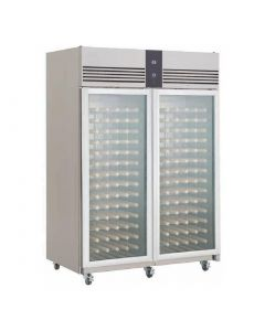 This is an image of a Foster EcoPro G2 2 Glass Door 1350Ltr Wine Cabinet Fridge EP14400W 10216