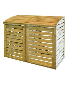 This is an image of a Rowlinson Wooden Double Bin Store